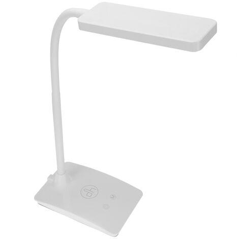 PrimeMatik - Lampe tactile de table à LED avec 3 niveaux d'intensité et 3 niveaux de tonalité lumineuse