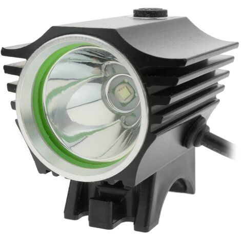 PrimeMatik - LED front light for head and bicycle with 8000 mAh battery 1000 lumens 1 x T6 XLamp
