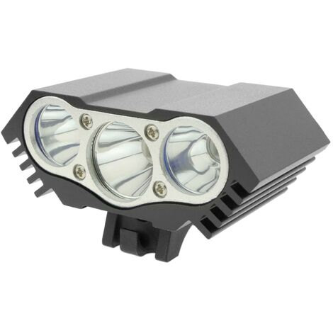 PrimeMatik - LED front light for head and bicycle with 8000 mAh battery 3000 lumens 3 x T6 XLamp