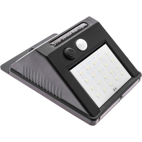 PrimeMatik - LED solar wall lamp Rechargeable wall lamp with motion sensor and dark IP44 4W