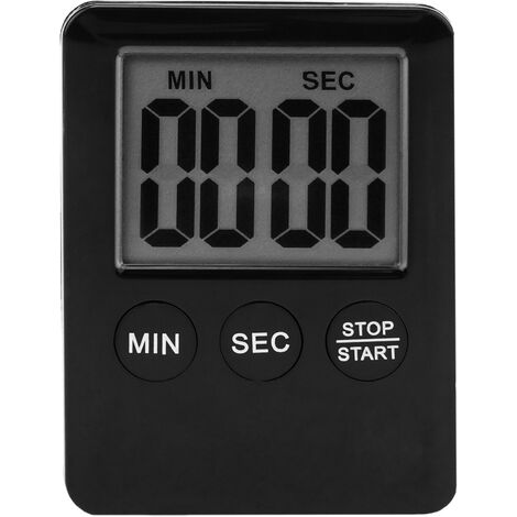 PrimeMatik - Magnetic kitchen timer. Digital time control in black color