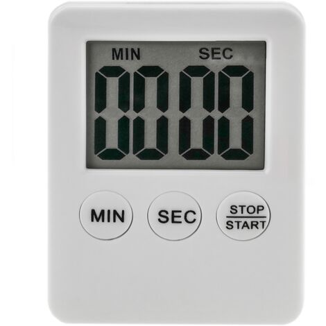 PrimeMatik - Magnetic kitchen timer. Digital time control in white color