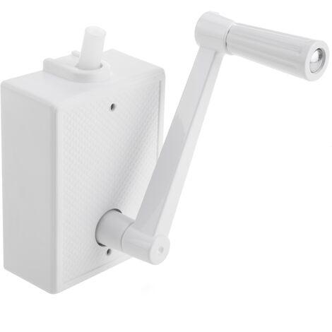 PrimeMatik - Manivelle pour volets roulants de couleur blanche