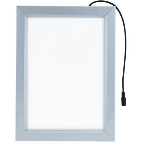PrimeMatik - Marco cuadro iluminado por LED A1 635x880mm de doble cara para cartel anuncio letrero