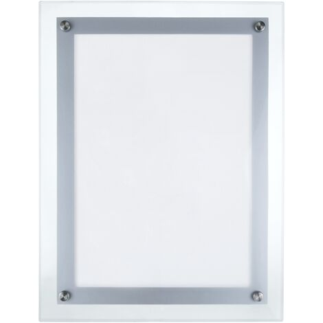 PrimeMatik - Marco cuadro iluminado por LED A3 372x495mm de metacrilato para cartel anuncio letrero