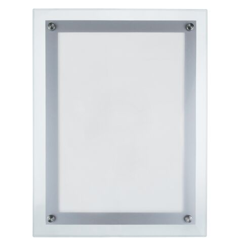 PrimeMatik - Marco cuadro iluminado por LED A4 285x372mm de metacrilato para cartel anuncio letrero