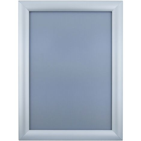PrimeMatik - Marco de aluminio A4 240x325mm recto para cartel anuncio poster