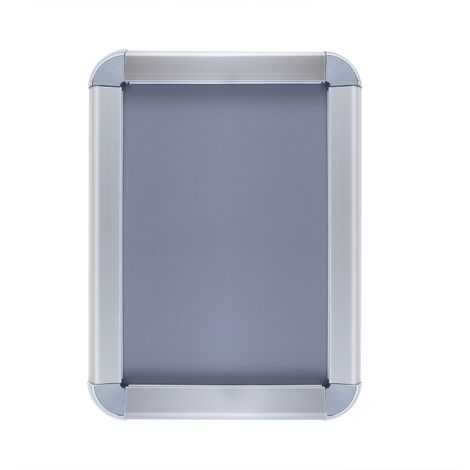 PrimeMatik - Marco de aluminio A4 255x340mm redondeado para cartel anuncio poster