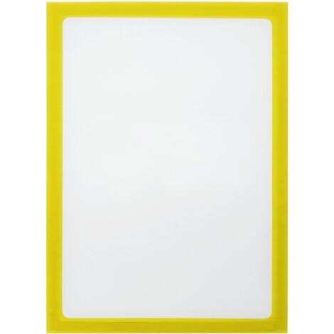 PrimeMatik - Marco magnético flexible amarillo A3 para letreros con imán