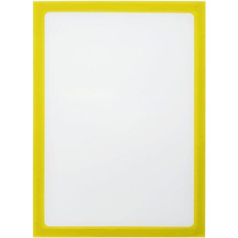 PrimeMatik - Marco magnético flexible amarillo A4 para letreros con imán