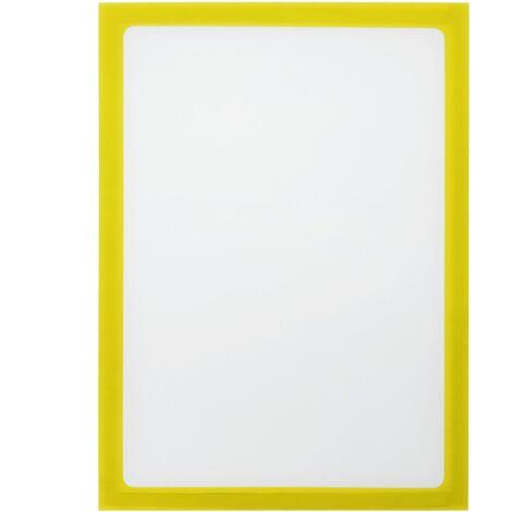 PrimeMatik - Marco magnético flexible amarillo A5 para letreros con imán