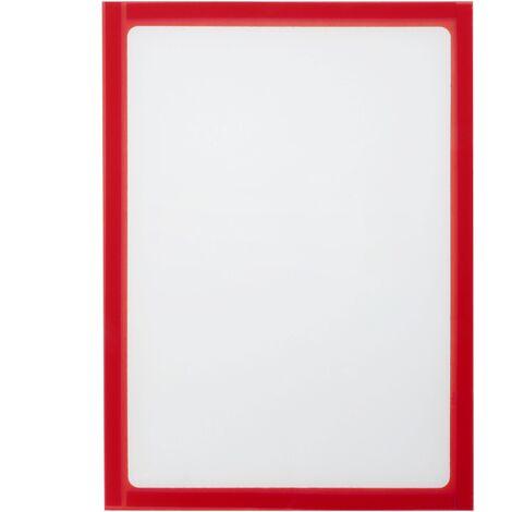 PrimeMatik - Marco magnético flexible rojo A4 para letreros con imán