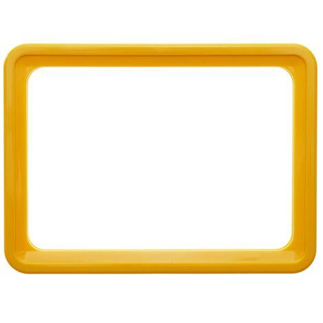 PrimeMatik - Marco para letreros y carteles A3 427x304mm amarillo para rotulación