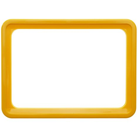 PrimeMatik - Marco para letreros y carteles A4 306x215mm amarillo para rotulación