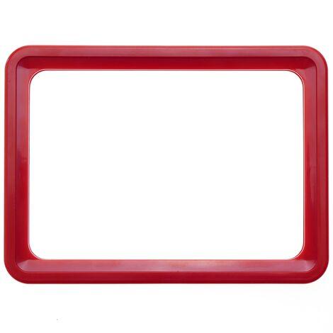 PrimeMatik - Marco para letreros y carteles A4 306x215mm rojo para rotulación