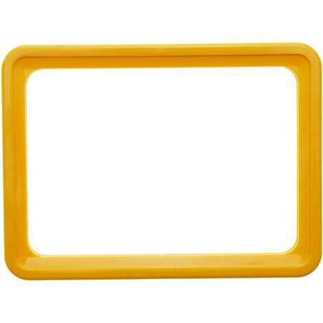 PrimeMatik - Marco para letreros y carteles A6 150x110mm amarillo para rotulación
