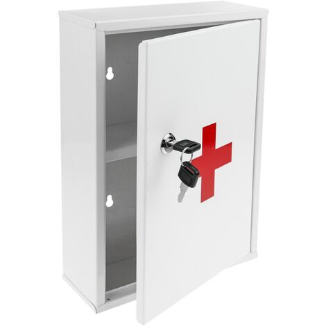 PrimeMatik - Medical cabinet. First aid metal wall cabinet 216 x 80 x 321 mm