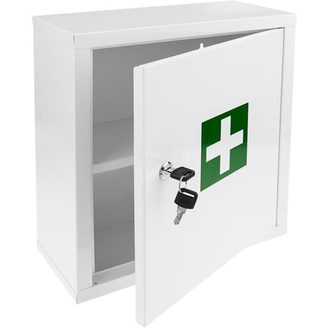 PrimeMatik - Medical cabinet. First aid metal wall cabinet 322 x 140 x 361 mm