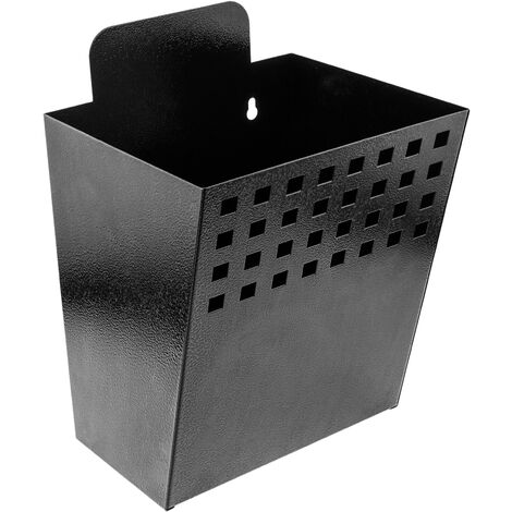 PrimeMatik - Metal container for wall mounting. Mailbox for magazines and newspapers. Black color