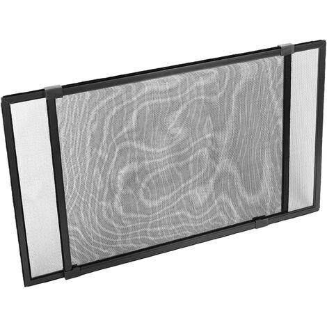 PrimeMatik - Mosquitera corredera para ventana 50 cm x max 142 cm aluminio negro