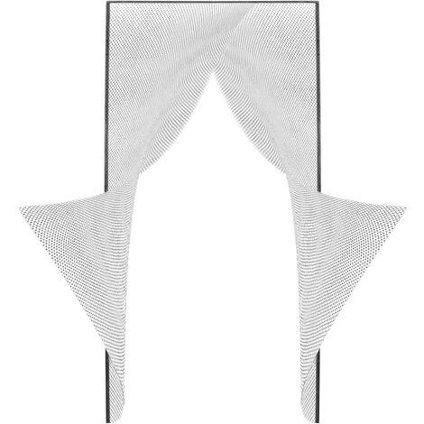 PrimeMatik - Mosquitera para puerta 2 piezas de 75 x 220 cm