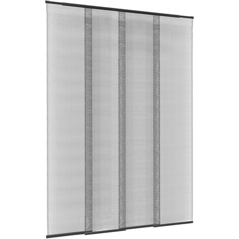PrimeMatik - Mosquitera para puerta max 130 x 250 cm cortina telescópica