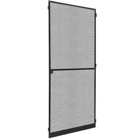 PrimeMatik - Mosquito net door max 100 x 210 cm black aluminum