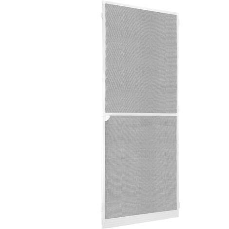 PrimeMatik - Mosquito net door max 100 x 210 cm white aluminum