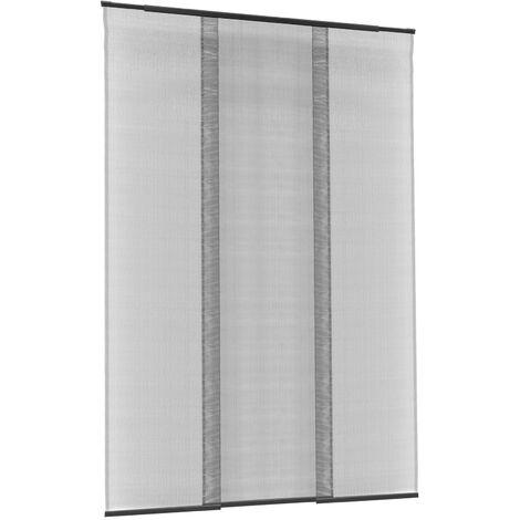 PrimeMatik - Mosquito net for door max 95 x 220 cm telescopic curtain