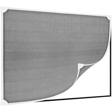 PrimeMatik - Mosquito net for window max 100 x 120 cm magnetic white flexible PVC