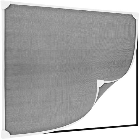 PrimeMatik - Moustiquaire fenêtre max 120 x 120 cm magnétique blanc PVC souple