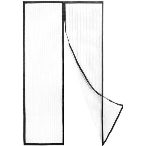 PrimeMatik - Moustiquaire pour porte 100 x 220 cm avec fermeture magnétique