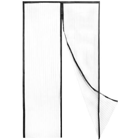 PrimeMatik - Moustiquaire pour porte max 90 x 210 cm avec fermeture magnétique