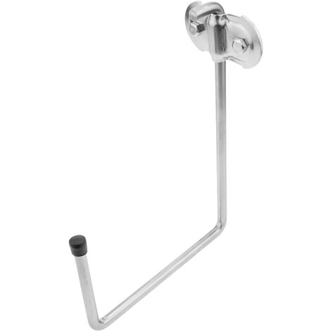PrimeMatik - Multi-purpose wall hook made of galvanized steel 75x150x210 mm