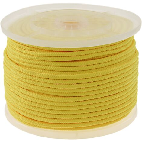 PrimeMatik - Multifilament braided rope PP 100 m x 6 mm yellow