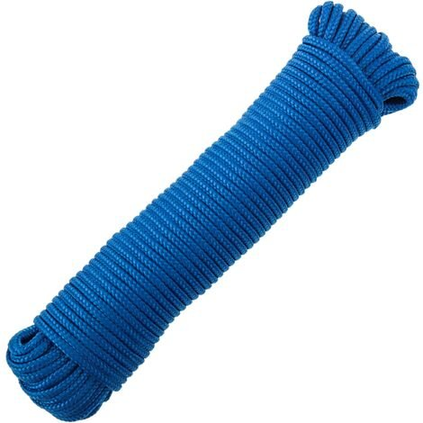 PrimeMatik - Multifilament braided rope PP 20 m x 6 mm blue