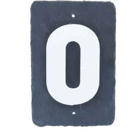 PrimeMatik - Number 0 in slate 180x120mm marking