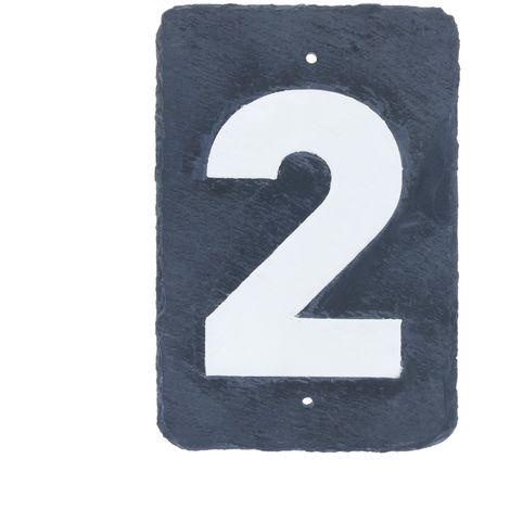 PrimeMatik - Number 2 in slate 180x120mm marking