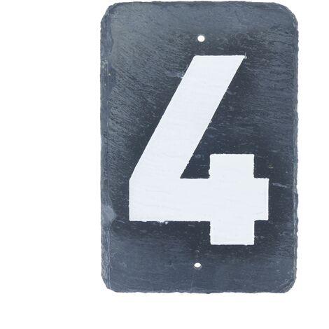 PrimeMatik - Number 4 on slate 180x120mm marking