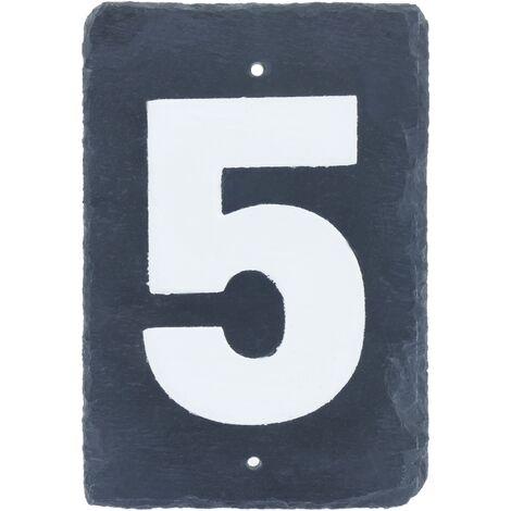 PrimeMatik - Number 5 on slate 180x120mm marking