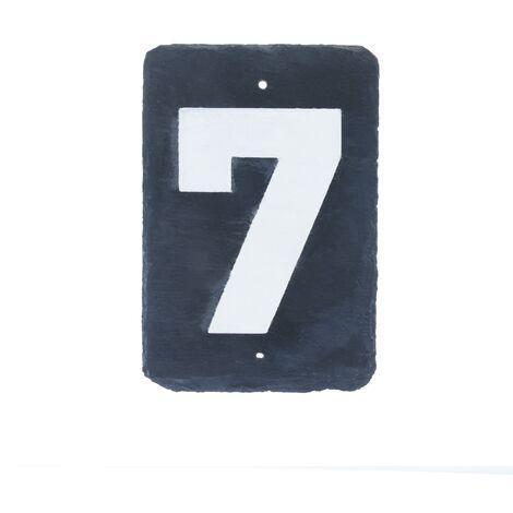 PrimeMatik - Number 7 on slate 180x120mm marking