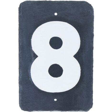 PrimeMatik - Number 8 on board of 180x120mm marking