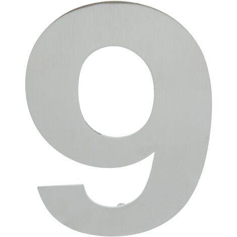 PrimeMatik - Number 9 150 mm stainless steel marking