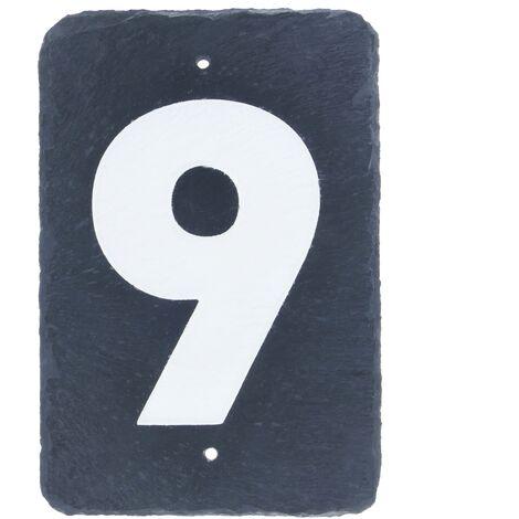 PrimeMatik - Number 9 in slate 180x120mm marking