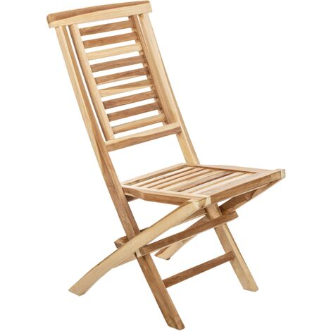 PrimeMatik - Outdoor folding chair in certified teak wood