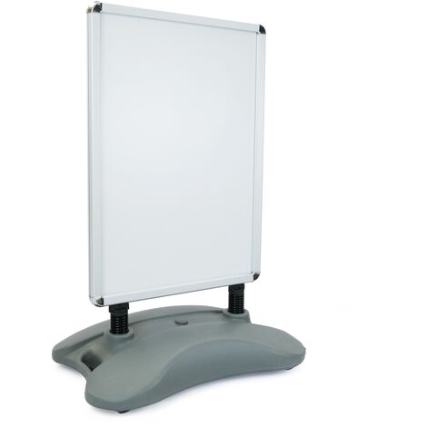 PrimeMatik - Panel billboard double frame A1 635x885mm with stand for advertisement poster