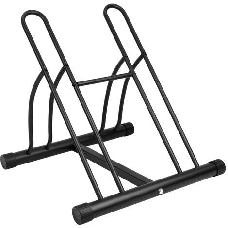 PrimeMatik - Parcheggio per 2 biciclette Rastrelliera portabiciclette Supporto per pavimento