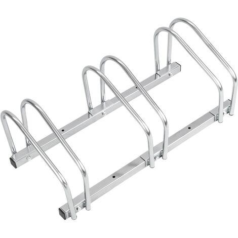 PrimeMatik - Parcheggio per 3 biciclette Rastrelliera portabiciclette Supporto para pavimento o parete