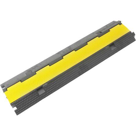 """main image of """"PrimeMatik - Passacavo a pavimento in gomma per la protezione elettrici canalina lunghezza 2 vie 98 cm"""""""