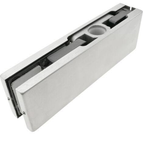 PrimeMatik - Pernio y bisagra superior de aluminio para puerta de cristal para cierrapuertas de suelo